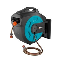 8023-20 Gardena Wall-Mounted Hose Box 25 roll-up automatic